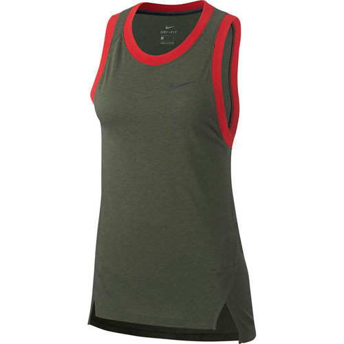 Nike Nike Elite Dames Basketball Tank Top Khaki Dri-Fit