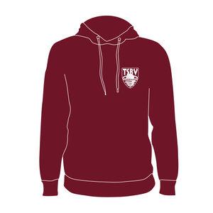 Burned Teamwear T.S.B.V. Pendragon Hoodie Logo Klein ordeaux