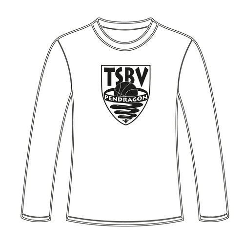 Burned Teamwear T.S.B.V. Pendragon Longsleeve Logo Zwart Wit