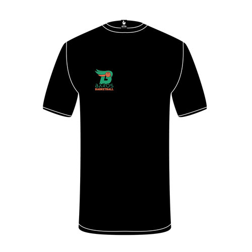 Burned Teamwear EBV Baros T-shirt Borduursel Zwart