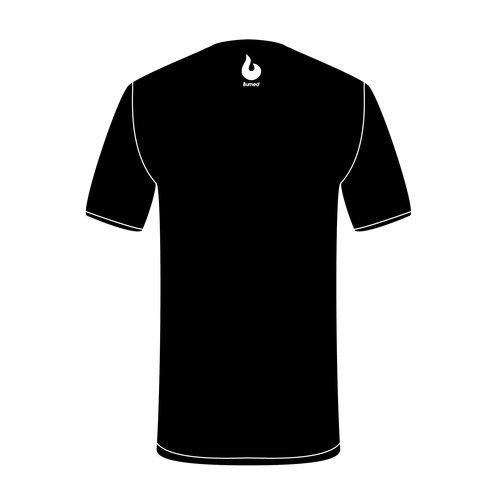 Burned Teamwear EBV Baros T-shirt Borduursel Zwart