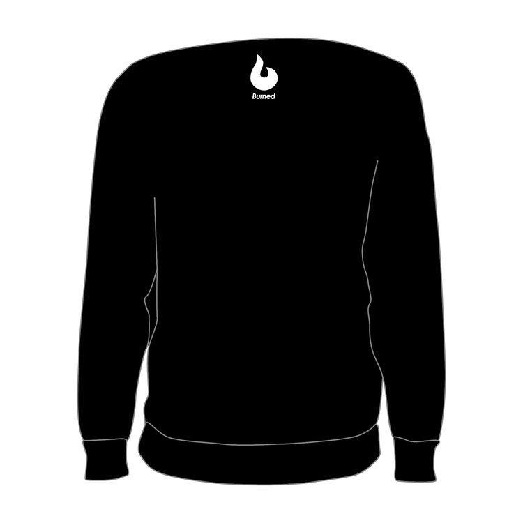 Burned Teamwear EBV Baros Crewneck Borduursel Zwart