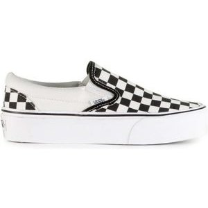 Vans Vans Classic Slip-On Checkerboard Platform Black White