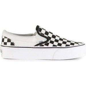 Vans Vans Classic Slip-On Checkerboard Platform Zwart Wit