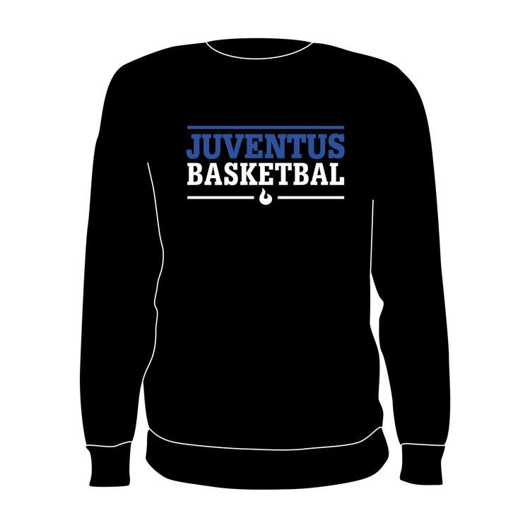 Burned Teamwear S.B.V. Juventus Crewneck Tekst Zwart