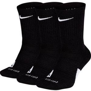 Nike Basketball Nike Elite Crew 3-Paar Sokken Zwart Wit
