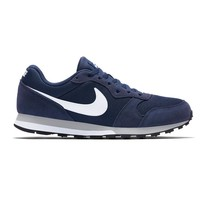 Nike MD Runner 2 Suede Donkerblauw Wit