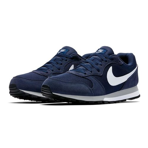 Nike Nike MD Runner 2 Suede Donkerblauw Wit