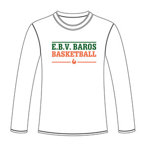 Burned Teamwear EBV Baros Longsleeve Tekst Wit