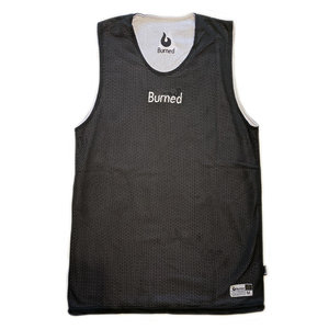 Burned Burned Big Hole Mesh Jersey Double Sided Black White