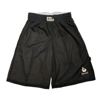 Burned Big Hole Mesh Short Dubbelzijdig Zwart Wit