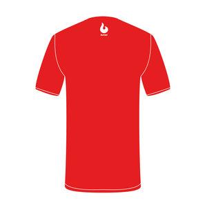 Burned Teamwear B.C. Agathos T-shirt Rood Tekst