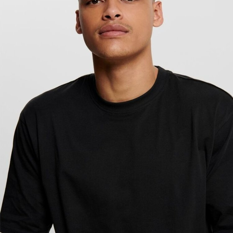 Only & Sons Only & Sons Basic Tee Zwart