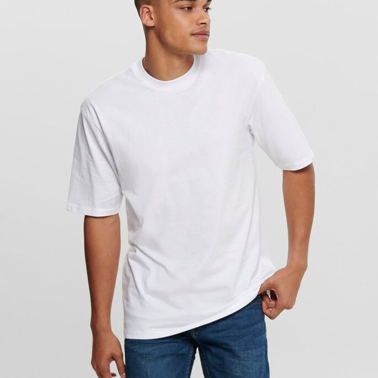 Only & Sons Only & Sons Basic Tee Wit