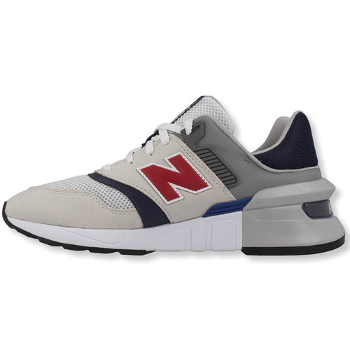 New Balance New Balance MS 997 D Sneaker Wit Grijs Donkerblauw Rood