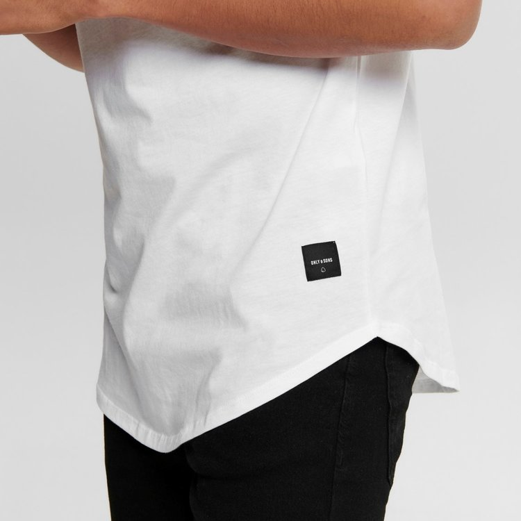 Only & Sons Only & Sons Life Longy Tee Weiß