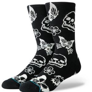 Stance Stance Triple Skull Classic Socks Black White
