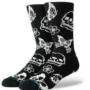 Stance Stance Triple Skull Classic Socks Schwarz Weiß