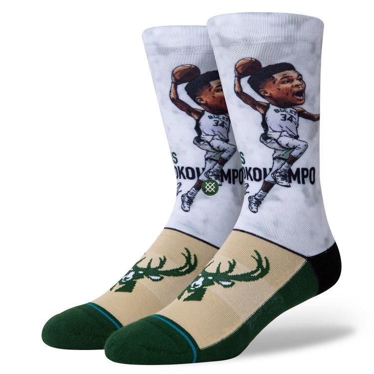 Stance Stance NBA Arena Giannis Big Head Classic Socks