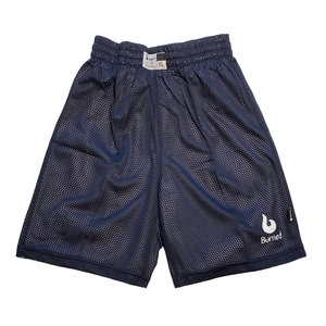 Burned Burned Big Hole Mesh Short Double Sided Dark Blue White