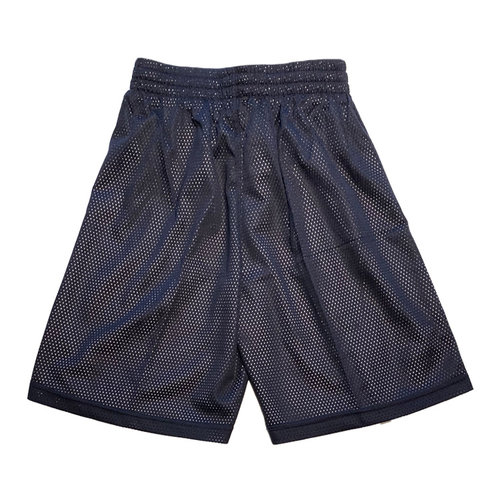 Burned Burned Big Hole Mesh Short Dubbelzijdig Donkerblauw Wit