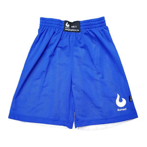 Burned Burned Big Hole Mesh Short Dubbelzijdig Royal-Blauw Wit