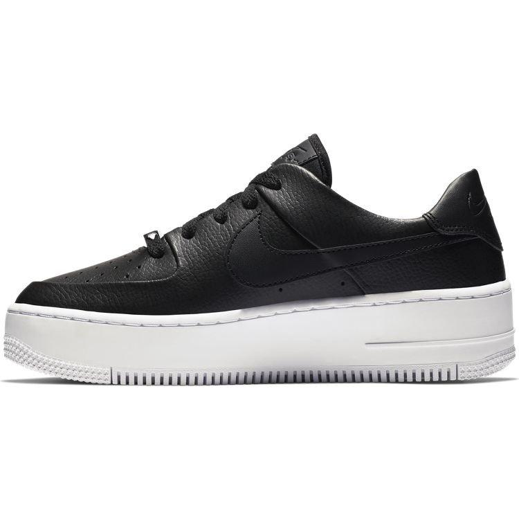 Nike Nike Air Force 1 Sage Low Schwarz Weiß