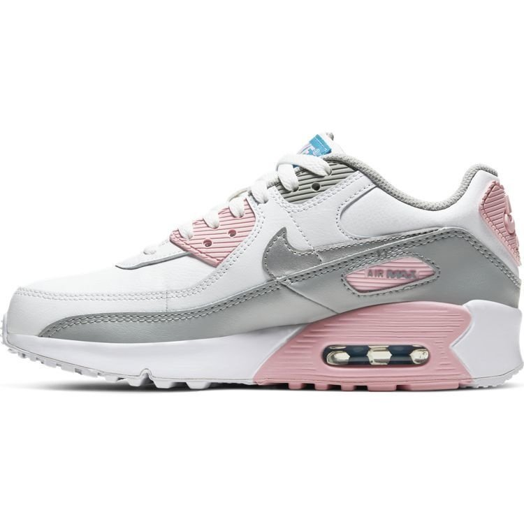 Nike Nike Air Max 90 LTR (GS) Wit Grijs Roze