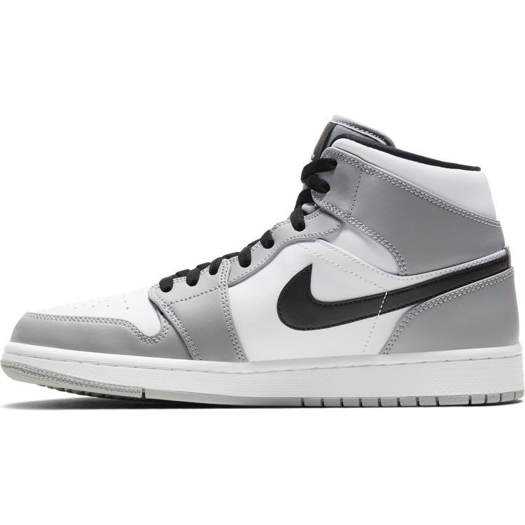 Jordan Air Jordan 1 Mid Grijs Wit Zwart