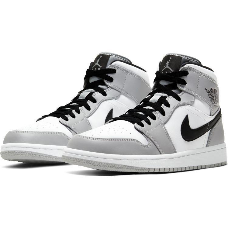 Jordan Air Jordan 1 Mid Grau Weiß Schwarz