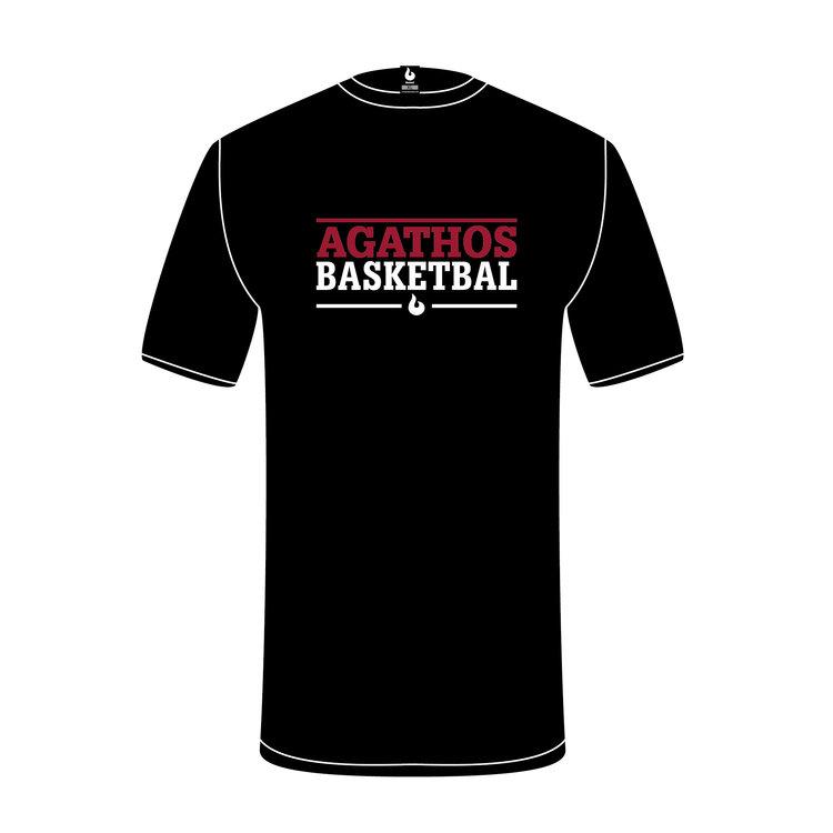 Burned Teamwear B.C. Agathos T-shirt Zwart Tekst