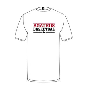 Burned Teamwear B.C. Agathos T-shirt Wit Tekst