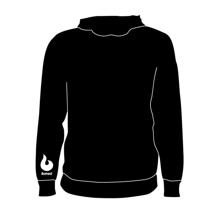 Burned Teamwear B.C. Agathos Hoodie Zwart Logo