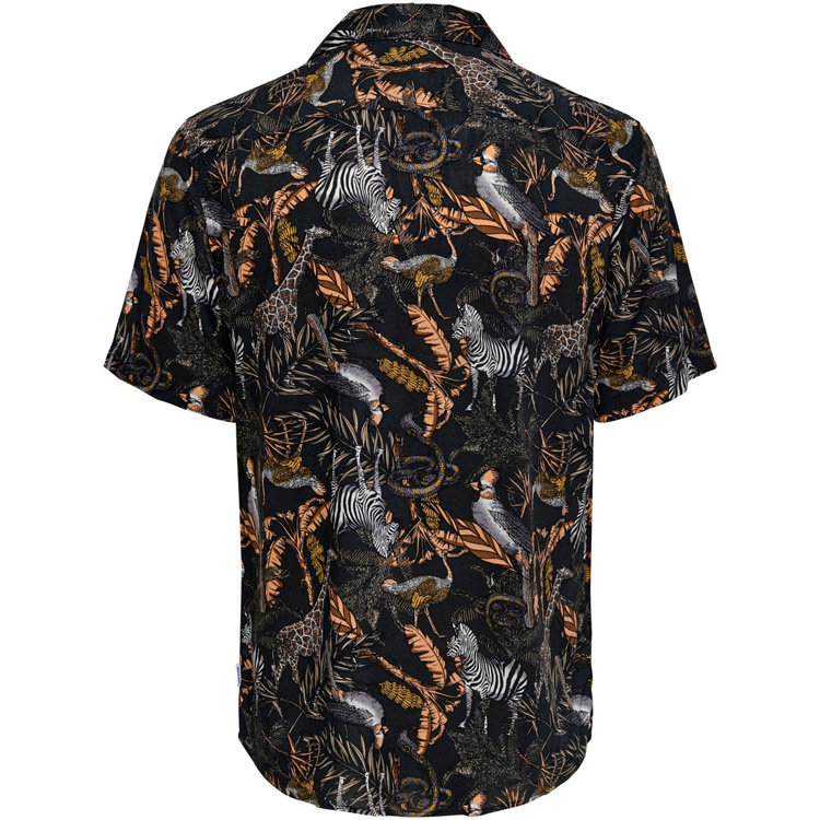Only & Sons Only & Sons Animal Blouse Schwarz