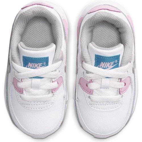 Nike Nike Air Max 90 LTR (TD) Wit Grijs Roze
