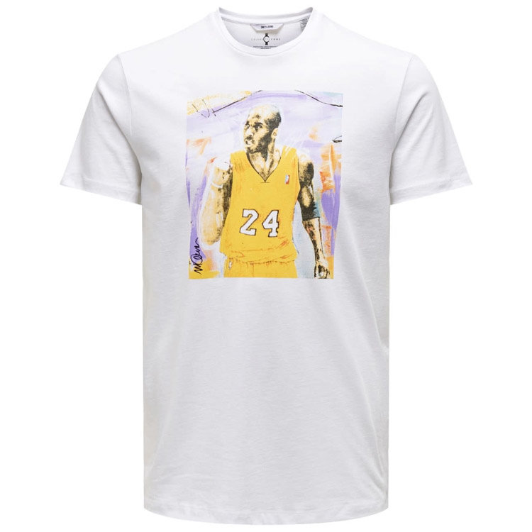 Only & Sons Only & Sons Kobe Bryant Tee Weiß