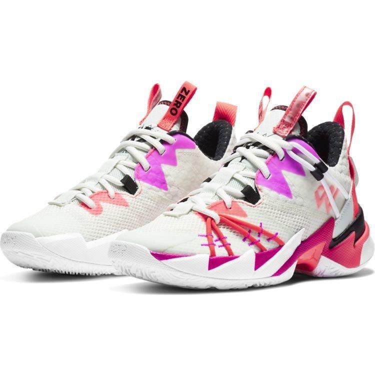 Jordan Basketball Jordan Why Not Zer0.3 SE (GS) Wit Paars Rood