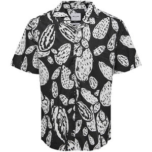 Only & Sons Only & Sons Cactus Blouse Zwart Wit