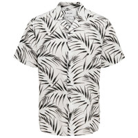 Only & Sons Palm Leafs Blouse Wit Zwart