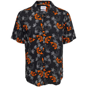 Only & Sons Only & Sons Fish Print Blouse Black
