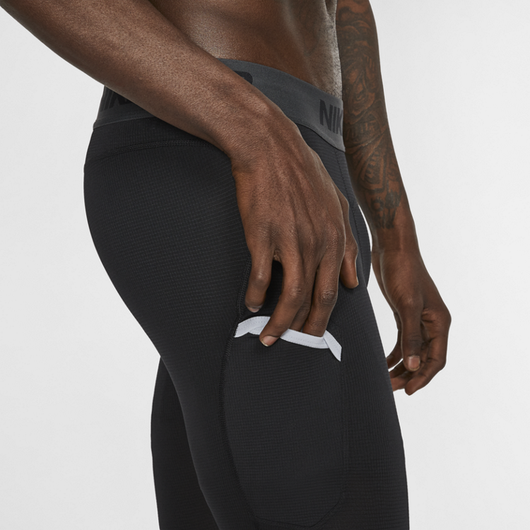 Nike Basketball Nike Pro Basketbal 3/4 Tight Zwart