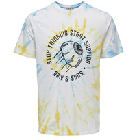 Only & Sons Tie Dye T-Shirt Stop Thinking Wit