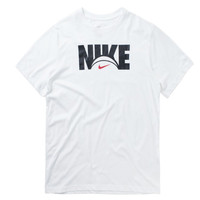 Nike Dri-Fit Logo T-shirt Wit Zwart