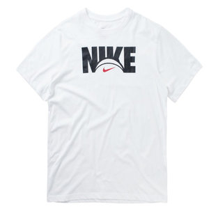 Nike Basketball Nike Dri-Fit Logo T-shirt Wit Zwart