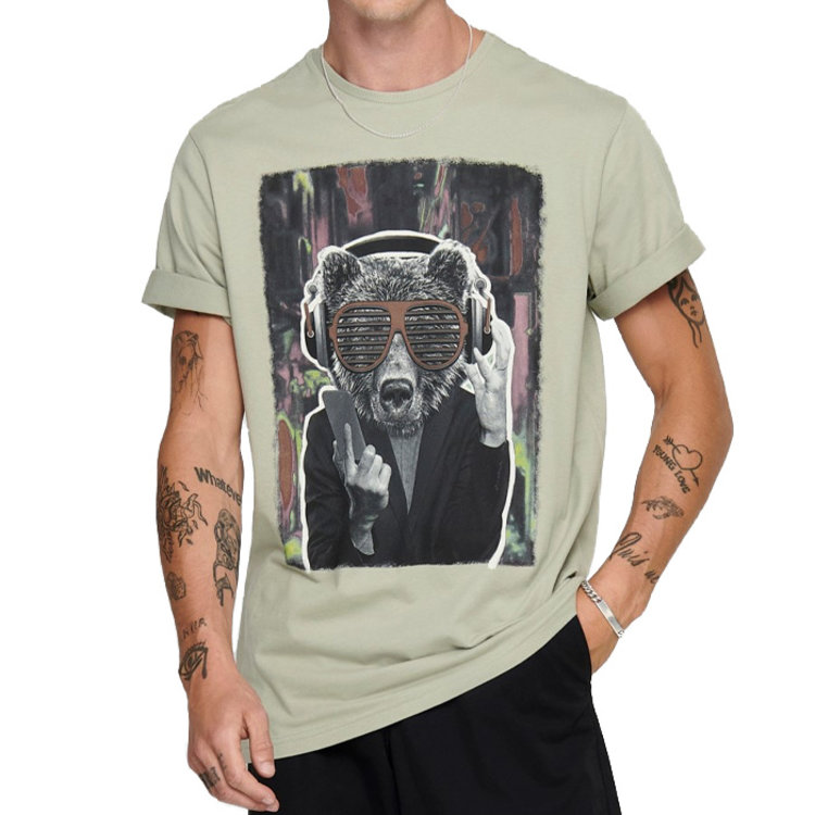 Only & Sons Only & Sons Raccoon T-shirt