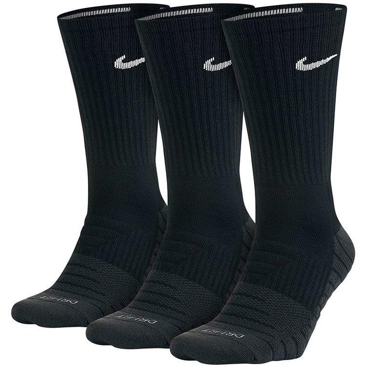 Nike Nike Everyday Max Cushioned Crew Trainingssokken Zwart (3 paar)
