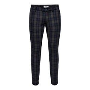 Only & Sons Only & Sons Check Print Pantalon Dunkelblau