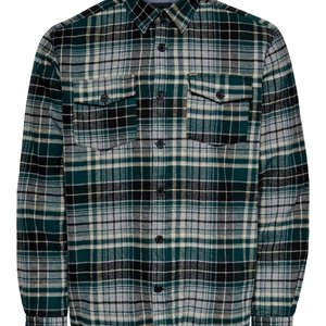Only & Sons Only & Sons Houthakkers Shirt Groen Geblokt