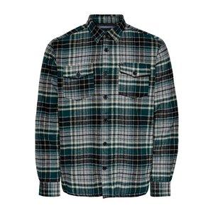 Only & Sons Only & Sons Holzfäller Shirt grün kariert