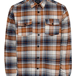 Only & Sons Only & Sons Houthakkers Shirt Oranje Geblokt